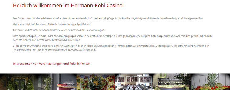 Referenz Web-Design: Webseite & Facebook-Page Hermann-Köhl-Casino Niederstetten