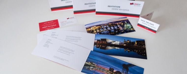 Referenz Print-Design: DHBW-Einladungskarten als Faltblatt