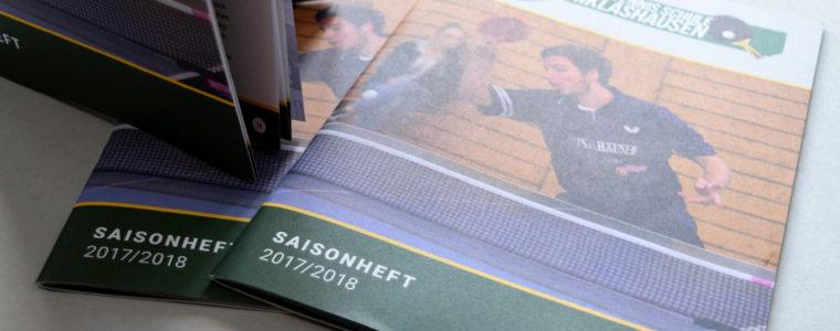 Referenz Print-Design: Saisonheft 2017/2018 des SV Niklashausen