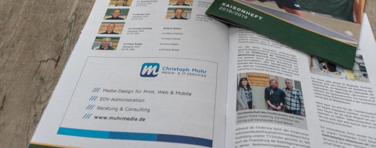 Referenz Print-Design: Saisonheft 2018/2019 des SV Niklashausen
