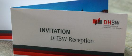 """Referenz Print-Design: Einladungskarte zur DHBW Reception """"Helsinki 2019"""""""