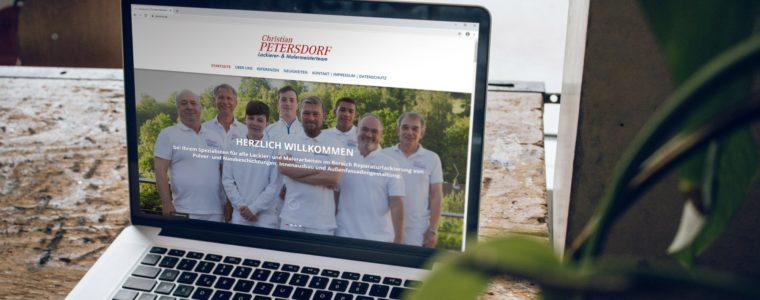 Referenz Web-Design: Webseite-Umsetzung für Christian Petersdorf Lackierer- & Malermeisterteam