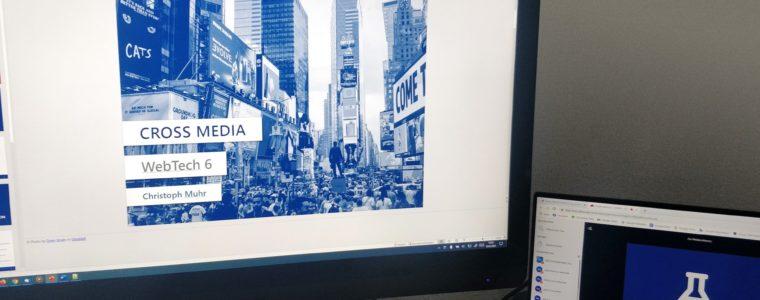 Dozententätigkeit: CrossMedia Lehrveranstaltung bei ON18 komplett online